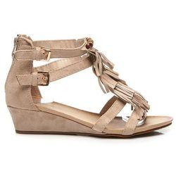 Sandały boho style Amparo - odcienie brązu i beżu
