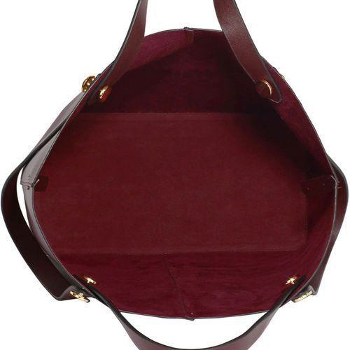 2f5b2b8bf8a6e Shopper bag torebka damska burgund - brązowy z odcieniem burgundu ...