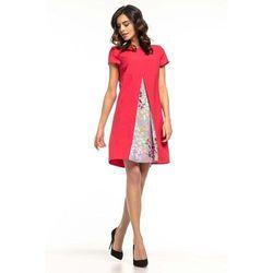 246ec372f553 suknie sukienki biala letnia trapezowa sukienka w haftowane kwiatki ...