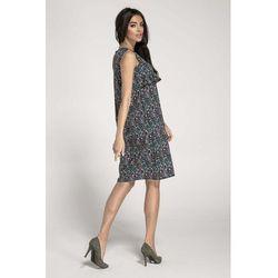 6ebf370f7b suknie sukienki obcisla letnia sukienka w zygzaki z zielona falbanka ...