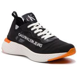 sneakersy calvin klein jeans ozzy matte smooth se8465 black