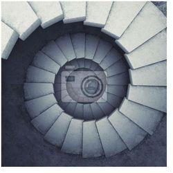 Obraz schody spiralne
