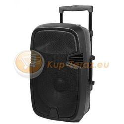 Przenośny aktywny zestaw głośnikowy Kolumna aktywna Dibeisi MIK1012 z funkcją MP3, Bluetooth, USB, SD, radio FM, wejście na gitarę oraz funkcją Karaoke + Dwa Mikrofony Bezprzewodowe