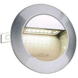 Zewnętrzna LAMPA ścienna DOWNUNDER LED 14 230302 Spotline ogrodowa OPRAWA wpust IP44 outdoor aluminium szczotkowane