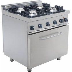 Kuchnia gazowa z piekarnikiem elektrycznym | 4 palniki | 800x700x850mm