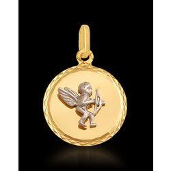 anioł Amor złoty wisiorek