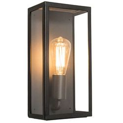 Zewnętrzna lampa ścienna Rotterdam 1 czarna