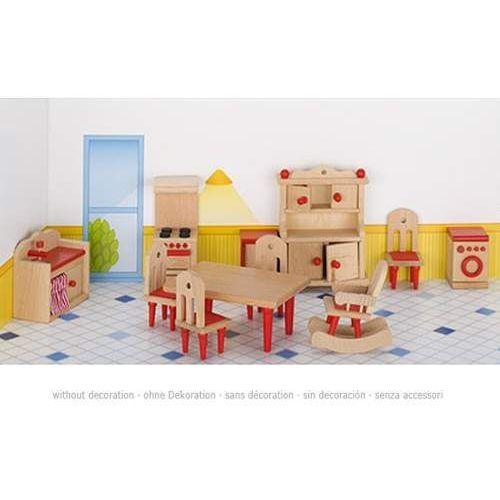 Meble dla lalek Kuchnia kolor czerwony  porównaj zanim kupisz -> Maxima Drewniana Kuchnia Dla Dzieci Z Piekarnikiem I Zlewozmywakiem