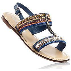 Sandały skórzane bonprix ciemnoniebieski