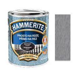 Farba Prosto Na Rdzę - Efekt Młotkowy Srebrno-Szary 0,25L Hammerite
