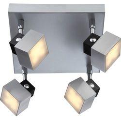 Plafon LAMPA sufitowa VIKA 56949-4 Globo regulowana OPRAWA LED na przegubach kwadratowa srebrny