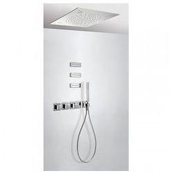 Zestaw natryskowy z baterią termostatyczną Tres CHROMOTERAPIA z 3 dyszami, deszczownica sufitowa 20725304
