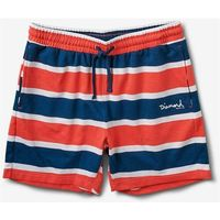 szorty DIAMOND - Mini Og Script Striped Shorts Coral (CORL)