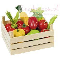 Owoce i warzywa w skrzynce, 10 elementów.