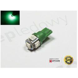Żarówka Led W5W T10 5x SMD5050 12V Zielony