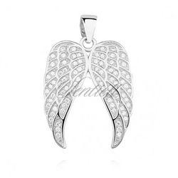 Srebrna zawieszka pr.925 skrzydła anioła z cyrkoniamii - Z1307C