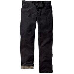 Spodnie sztruksowe ocieplane bonprix czarny