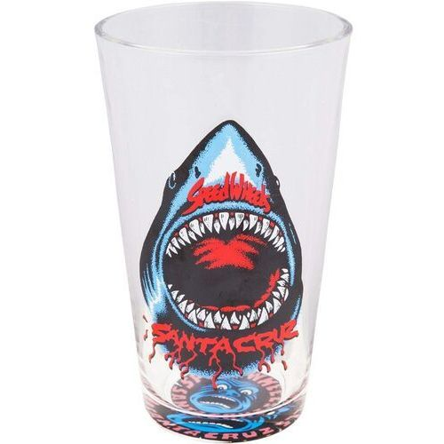 szklanka SANTA CRUZ - Speed Wheels Shark Pint Glass Clear (CLEAR)