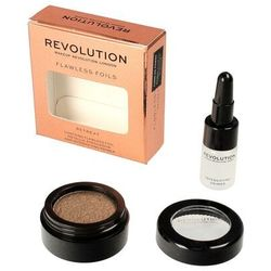 Makeup Revolution Flawless Foils Cień do powiek metaliczny+baza Retreat 1op.
